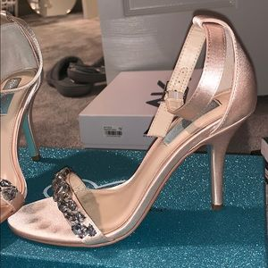 Blue By Betsey Johnson Satin Heels